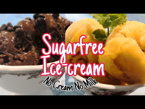 sugarfree-ice-cream-recipe-(quick-&-easy)-|-healthy-ice-cream-recipe-|-2-fruit-sorbet-recipe