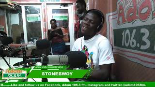 STONEBWOY ON ADOM WORK AND HAPPINESS on Adom FM (18-10-18)