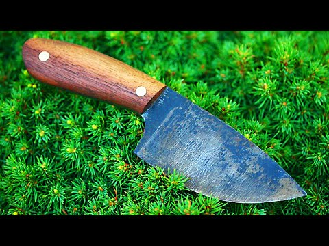 Knifemaking tutorial - How to make a knife with basic tools