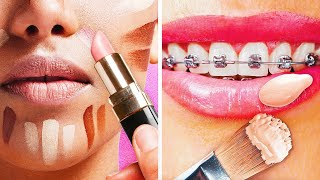 35 EASY MAKEUP TIPS AND TRICKS || 5-Minute Beauty Hacks For Girls!