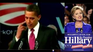 Dirt ball Obama gives Hillary the finger - McCain too