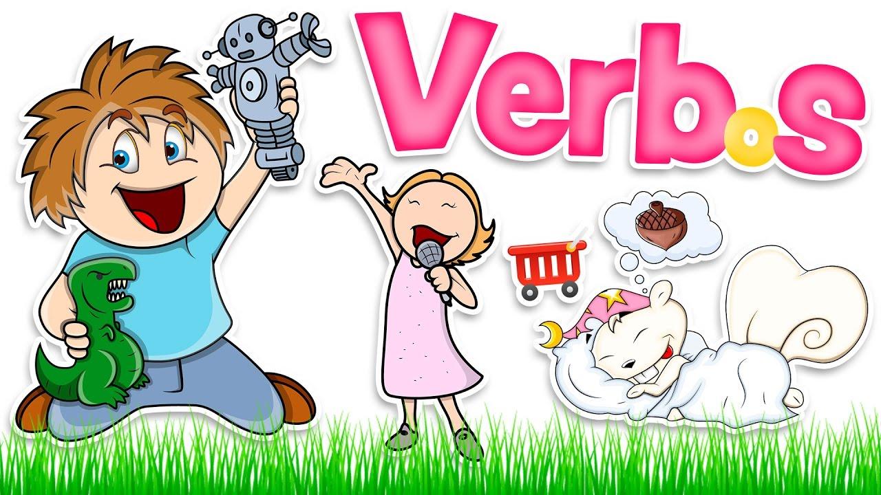 Verbos Básicos En Inglés Y Español Para Niños Basic Verbs Youtube