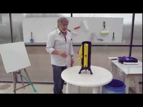 how to clean a paint roller fast rollean the ultimate green paint roll cleaner youtube. Black Bedroom Furniture Sets. Home Design Ideas