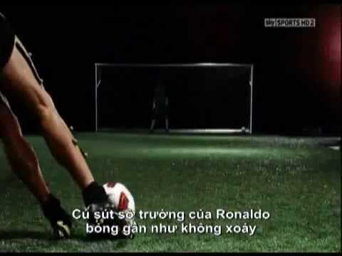 Học theo những cú sút phạt siêu mạnh của Cristiano Ronaldo