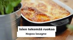 Nopea ja hyvä lasagne - helppo resepti - video #isientekemääruokaa