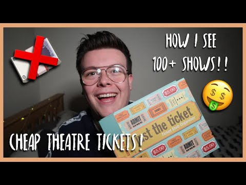 I SAW 100 + SHOWS LAST YEAR | HOW TO GET CHEAP THEATRE TICKETS! | THELEWISSNELL