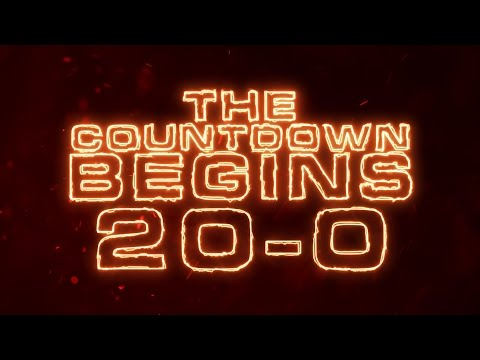Countdown Timer 20 To 0 Fire Text Motion Graphics