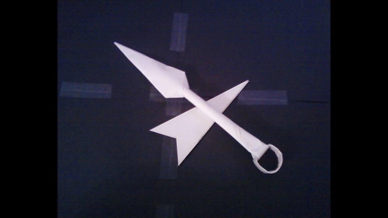 How To Make Paper Kunai Knives Easy