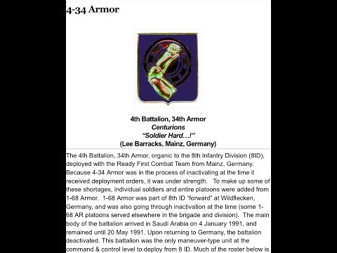 4 34 Armor Centurions Operation Desert Storm Predeployment and at the Port