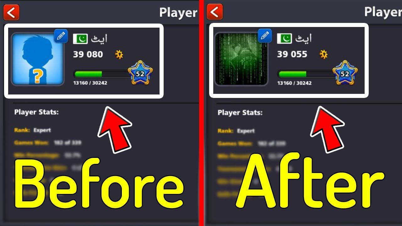 How To Change 8 Ball Pool Account Profile Picture and Name ...