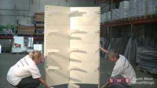 South West Shop Fittings - Corner Shop Shelving Assembly Instructions