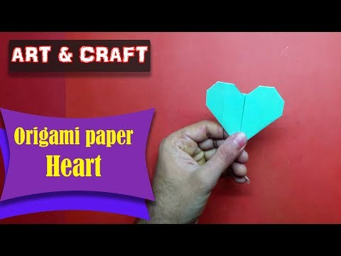 DIY  How to make an origami paper Heart || Art & Craft || Open Mind 🎊