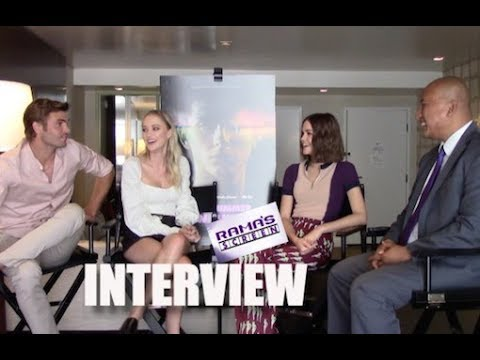 My  with Alex Roe, Maika Monroe, and Maia Mitchell about 'HOT SUMMER NIGHTS'