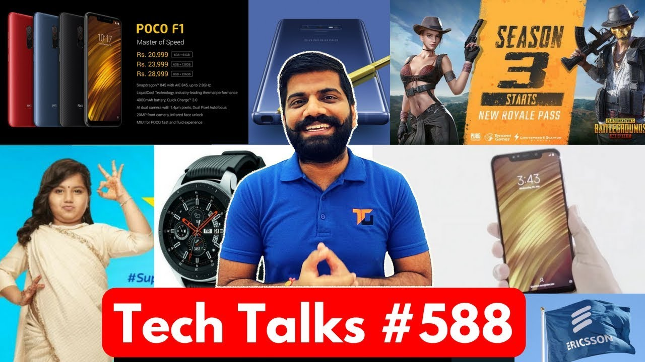 Tech Talks #588 - Poco F1, PUBG Mobile Season 3, Note 9 India, FIFA 19, Flipkart 2GUD