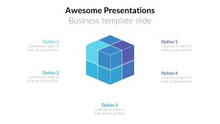animated cube process slide in powerpoint (Part 1) . Powerpoint tricks