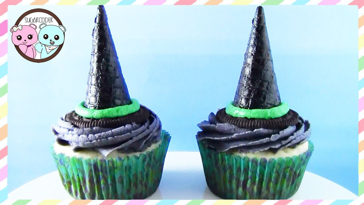 WITCH HALLOWEEN CUPCAKES, HALLOWEEN RECIPE DESSERT IDEAS 🎃