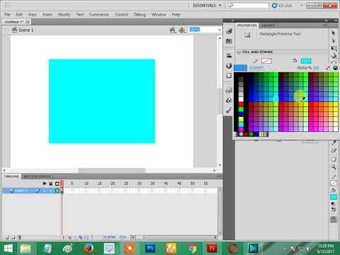 flash cs5 how to get image center