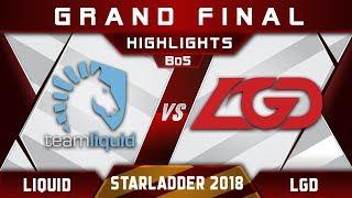 Liquid vs LGD Grand Final Starladder i-League 2018 Highlights Dota 2