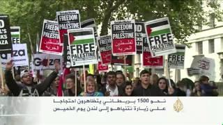 فيديو.. بريطانيون يتظاهرون ضد زيارة نتنياهو