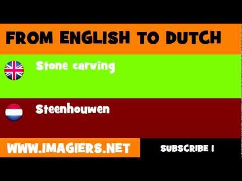 NEDERLANDS = ENGELS = Steenhouwen