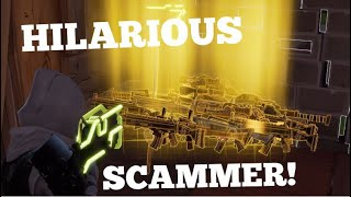 HILARIOUS Scammer gets Scammed in fortnite save the world pve