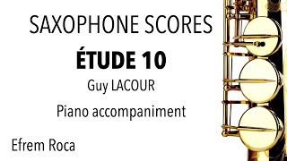 ÉTUDE 10 – Guy LACOUR – Piano accompaniment