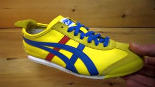 Onitsuka Tiger Mexico 66 Leather Shoes Yellow