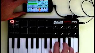 Using a MIDI controller with Caustic 2.1 on Android