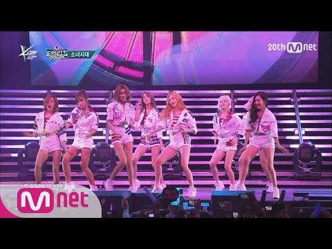 [KCON in NY] The TOP Gril Group, SNSD 'Catch Me If You Can' @M COUNTDOWN 150815 EP.438