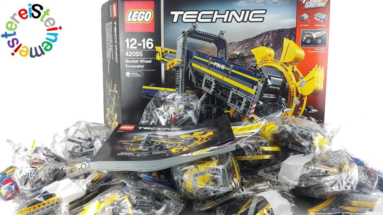 lego technic 42055 schaufelradbagger unboxing. Black Bedroom Furniture Sets. Home Design Ideas