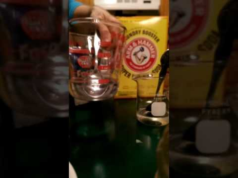 Sodium Carbonate Solution Poured Into Epsom Salt Solution