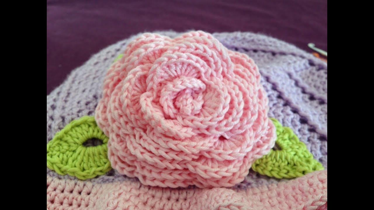 How To Crochet Big Rose Youtube Flower Diagram Flowers 4