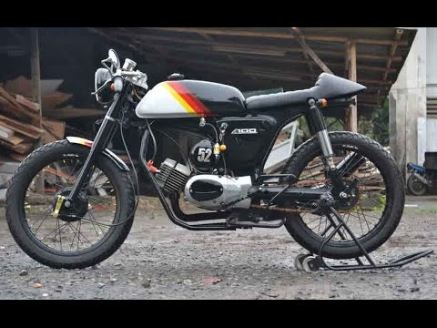 kumpulan modifikasi motor rx king cafe racer