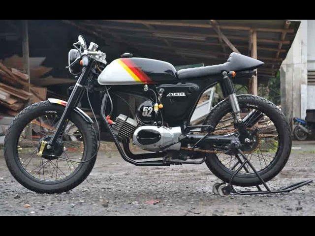 Motor Trend Modifikasi Video Modifikasi Motor Suzuki A100 Cafe