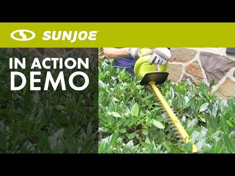 HJ22HTE - Sun Joe 22-Inch Electric Hedge Trimmer - Live Demo