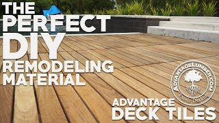 Why Advantage Deck Tiles™ are the Perfect DIY Remodeling Material