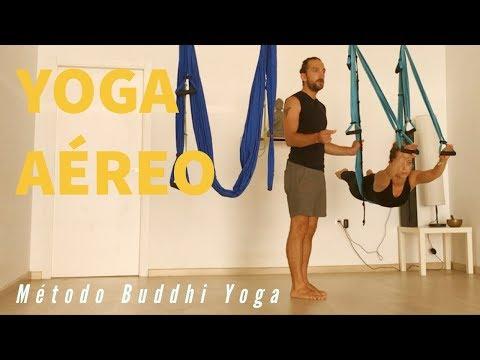 Clase de Yoga Aéreo en tiempo real.