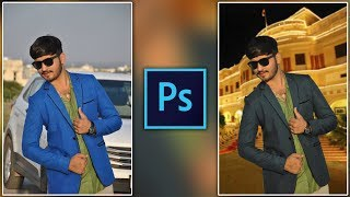 How to Replace Background to Royal Palace Like in Photoshop