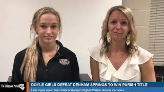 Doyle girls basketball coach Sam White and player Meghan Watson