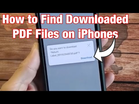 How To Find Downloaded PDF Files On ALL IPhones, IPads, IPods
