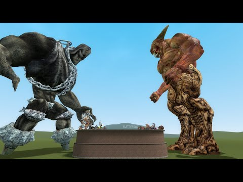 DOOM VS PAINKILLER NPCS - PART 1 - GMOD-FIGHTS |