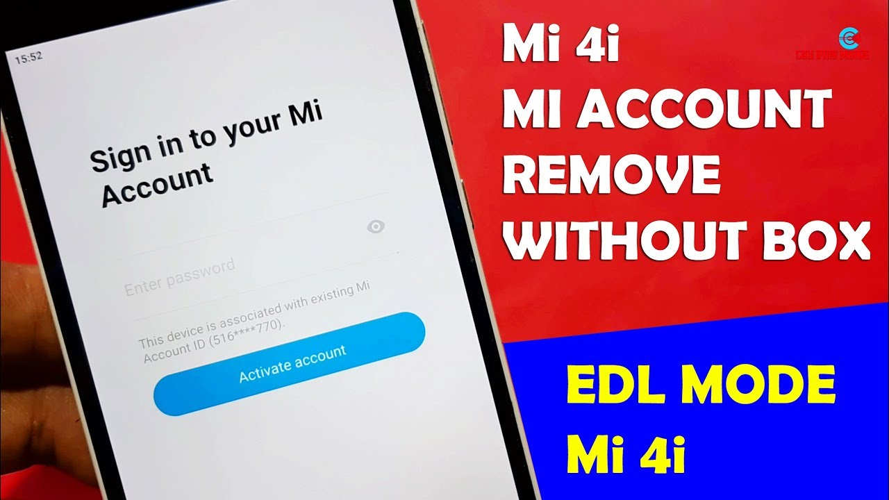 Repeat MI 4i MI Account Remove Without Box 100% Working EDL Mode by