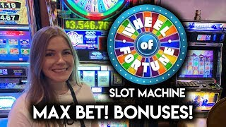 Max Bet! Old School Wheel Of Fortune Slot Machine! Let's hit those Millions!!