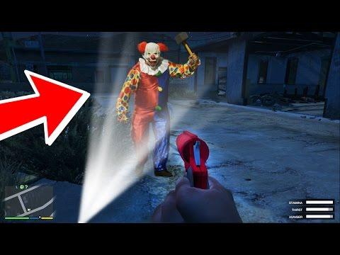 """GTA 5 KILLER CLOWN HUNTING AT 3:00 AM """"EXTREMELY SCARY"""" (GTA 5)"""