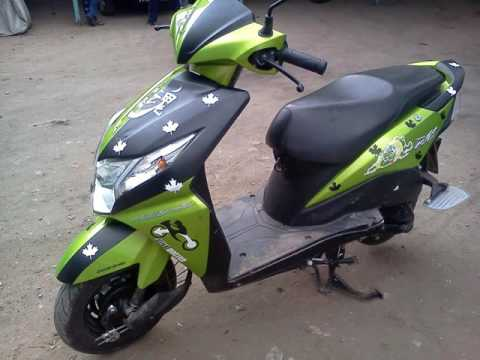 Dio stickers honda dio green stickering designs youtube