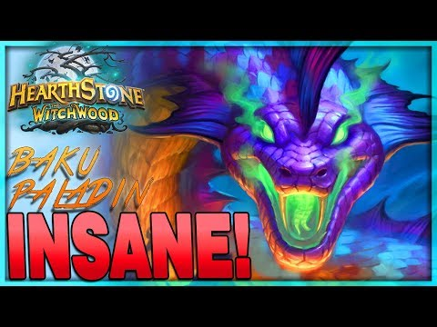 [HEARTHSTONE] EVEN MORE INSANE! -  Tier 1 Dude Baku Paladin Deck Guide & Gameplay 🌟 The Witchwood