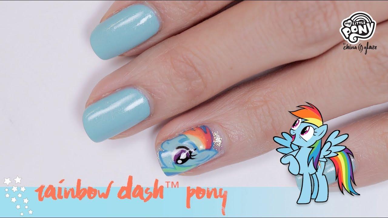 My Little Pony Nail Art Rainbow Dash