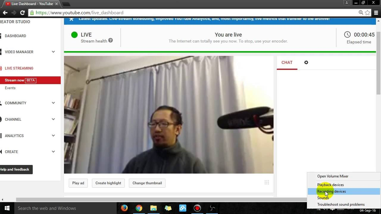 How To Get Rid Of Echo On Your Youtube Live Stream With Obs Youtube