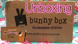 Bunny Box September 2015 Unboxing (Guinea Pig Subscription Box) thumbnail