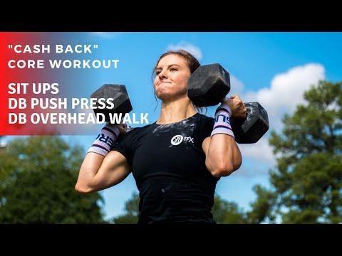 """cash-back""-core-workout-|-sit-ups-+-dumbbell-push-press-+-dumbbell-walk"
